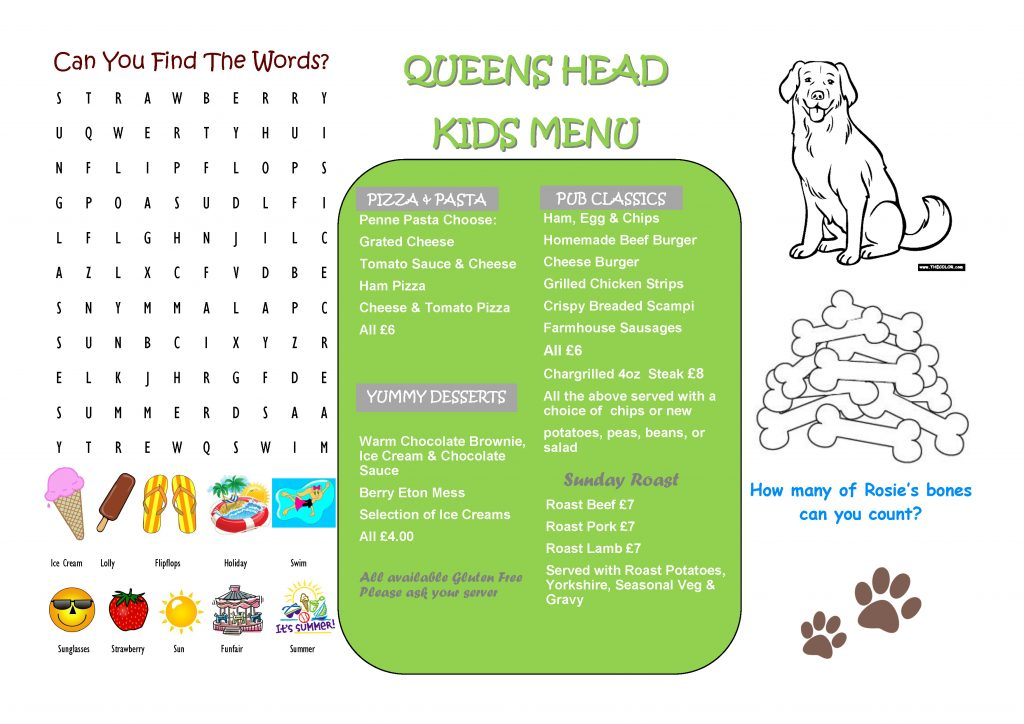 KIDS MENU SUMMER - JUNE 2017.pub QHB_Page_1