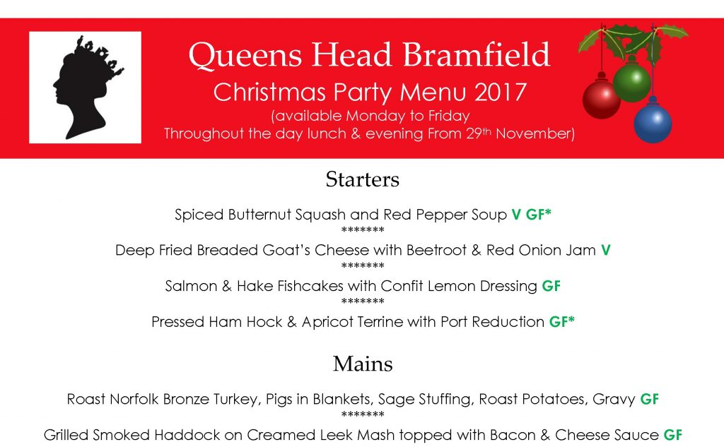 Christmas Party Menu 2017 QHB crop